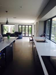 Woodland Kitchen And Bar Neutral Bay - walls in dulux diesku windows and bifold doors in colourbond