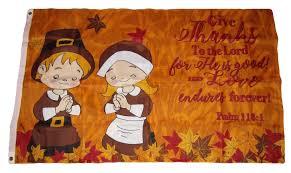 3x5 thanksgiving prayer psalm 118 1 give thanks flag 3 x5 brass