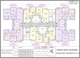 floor plans of row houses in talegaon at eagle u0027s nest are impressive
