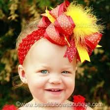 big hair bows buy the top orange yellow and big hair bow clip or
