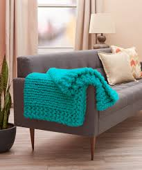 Red Heart Comfort Yarn Patterns Cool Comforts Knit Throw Red Heart