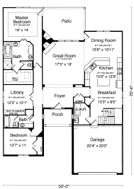 Patio Home Plans From The Pre Drawn Stock Plan Collection Of 16 X 50 Floor Plans