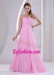 of honor dresses one shoulder pleated chiffon of honor dresses with brush