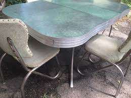 1950s chrome kitchen table and chairs retro chrome kitchen table green formica and chrome retro kitchen