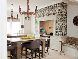 dining room wallpaper ideas accent wallpaper ideas white cotton tablecloth beige wooden dining