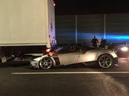 pagani huayra pagani huayra bc crashes into a truck in rome gtspirit