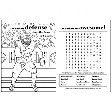 green bay packers coloring u0026 activity book at the packers pro shop