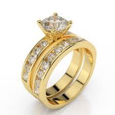 gold wedding rings sets engagement wedding rings sets