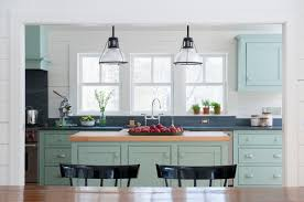 Green And Blue Kitchen Modern Country Style Case Study Farrow And Ball Green Blue Paint