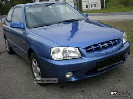 hyundai accent 2000 model 2000 hyundai accent 1 3i aluminum power euro3 car photo and specs
