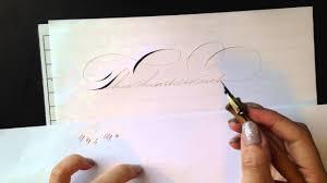 using a gillott principality to write spencerian ornamental