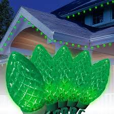 holiday bright lights c9 holiday time led c9 super bright light set green wire green bulbs