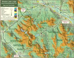 Canadian Rockies Map Gibbon Pass Shadow Lake Lodge