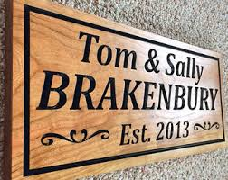 Personalized Wood Signs Home Decor Wooden Home Decor Etsy