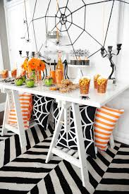 halloween party decor table the happy housie