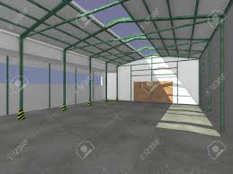 Warehouse Interior 3d Render Of Warehouse Interior Stock Photo Picture And Royalty