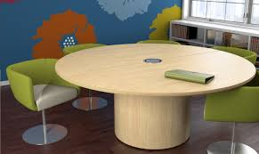 Circular Meeting Table Folding Utility Table Half Desk Grey Office Conference Bdi