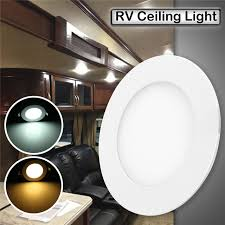 12v light fixture interior 12v 4 75 inch rv trailer led roof dome light 6w car boat interior
