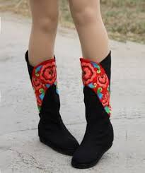 womens boots vancouver bc funky womens ankle boots ethnic hmong embroidered and batik on