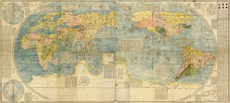 Huge World Map by Japanese Cartography The First Time Japan Saw The World