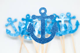 sailor baby shower decorations 10 anchor cupcake toppers nautical baby shower sailor baby shower