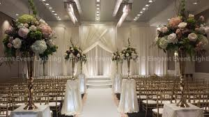 wedding event backdrop ceremony backdrop bridal canopy lighted flower pedestals