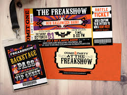 carnival freak show halloween invite halloween party halloween