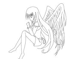 angel color pages printable anime coloring pages coloring me