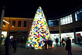 consumerist christmas tree uses thousands of multi colored plastic