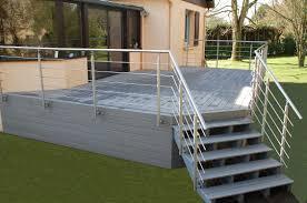 photo terrasse composite terrasse coutances bois et composite fh construction manche 50