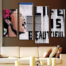 4pcs printed western style painting canvas print 14 99 online