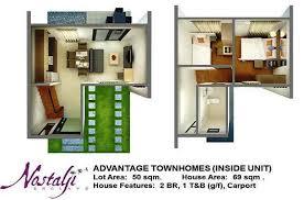house design plans 50 square meter lot advantage nostalji enclave townhouse