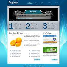 blue flame free html css templates