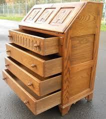 oak writing bureau desk by jaycee sold