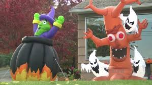 giant halloween inflatables stolen from 91 year old lewiston