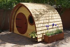 Hobbit Homes For Sale by Hobbit Hole Playhouse Kit Outdoor Wooden Kids Playhouse With