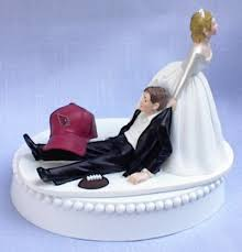 sports team university wedding cake toppers tops college