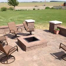 Patio Table With Built In Fire Pit - custom outdoor fireplace or fire pit archadeck outdoor living