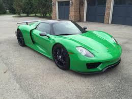 porsche 918 spyder black soulsteer com graham rahal u0027s viper green porsche 918 spyder gets