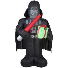 Home Depot Inflatable Christmas Decorations Shop Gemmy 6 Ft X 2 29 Ft Lighted Star Wars Darth Vader Christmas