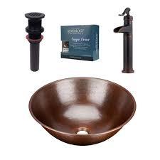 sinkology pfister all in one copper vessel sink hubble design kit