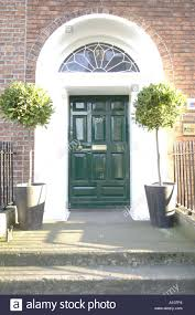 green door entrance georgian houses merrion street dublin eire