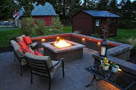 Backyard Firepit Ideas by Outdoor Patio With Fire Pit Ideas Landscaping Gardening Ideas