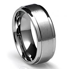 top titanium rings images 8mm men 39 s titanium ring wedding band with flat brushed top and jpg