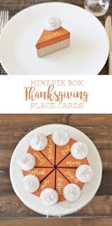 mini pie box thanksgiving place cards the happy scraps