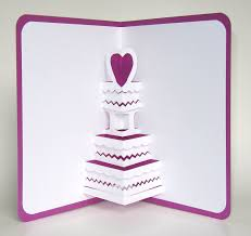 save the date wedding cake 3d pop up greeting card valentines