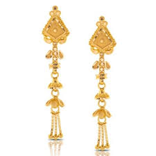 gold drop earrings aliya beaded gold drop earrings jewellery india online caratlane