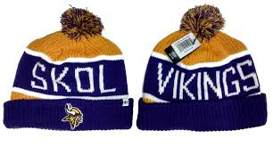 minnesota vikings skol vikings stocking cap with cuff and pom