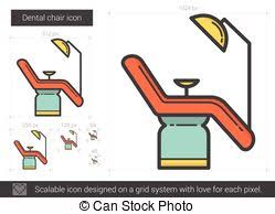 Medical Armchair Eps Vector Of Dentist Chair Line Icon Medical Armchair Icons