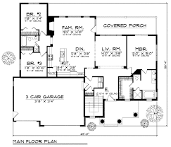 Houseplans And More Traditional Style House Plan 3 Beds 2 Baths 1960 Sq Ft Plan 70